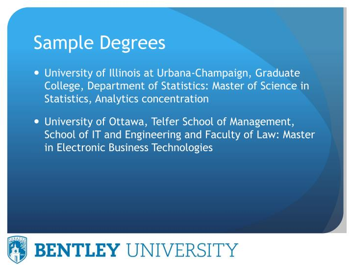 Sample Degrees