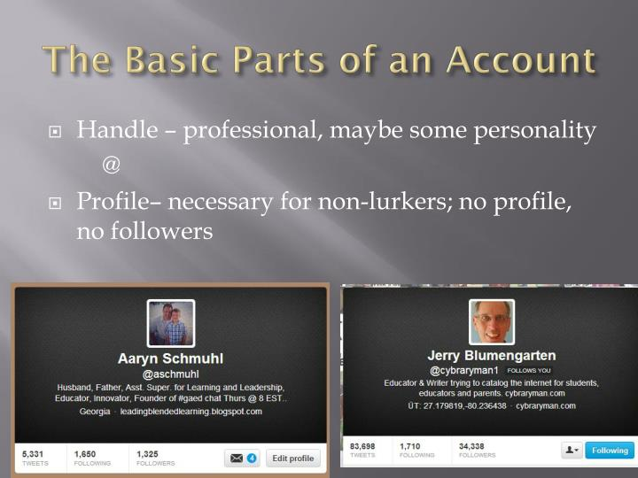 The Basic Parts of an Account