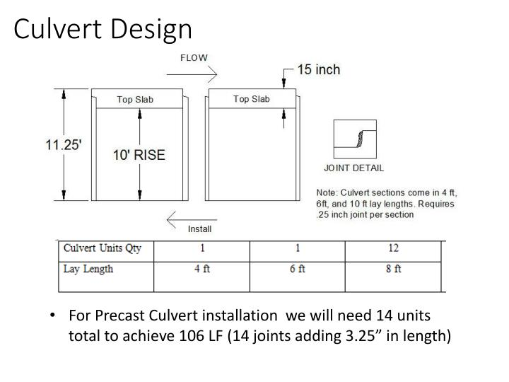 Culvert Design