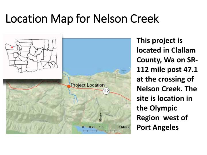 Location map for nelson creek