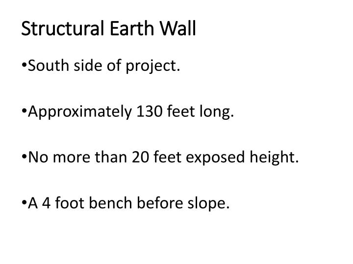 Structural Earth Wall