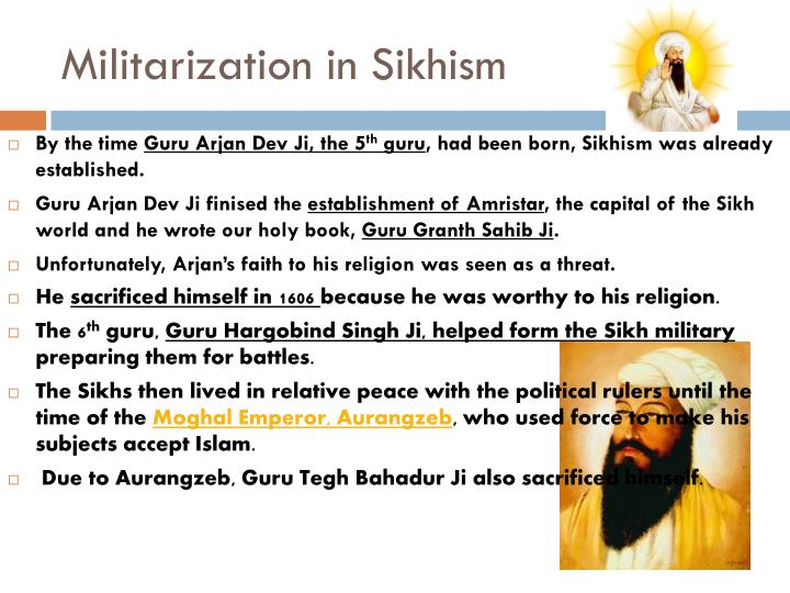 Militarization in Sikhism