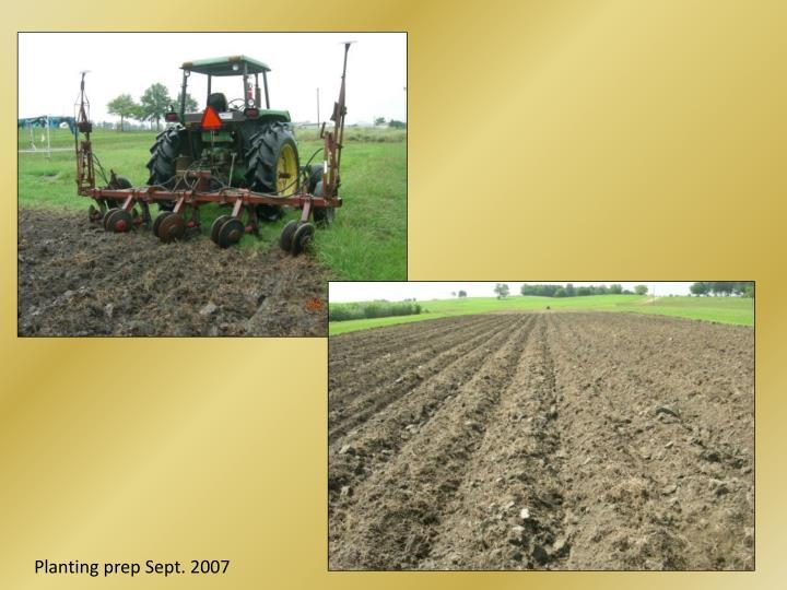 Planting prep Sept. 2007