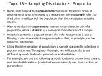 topic 13 sampling distributions proportion