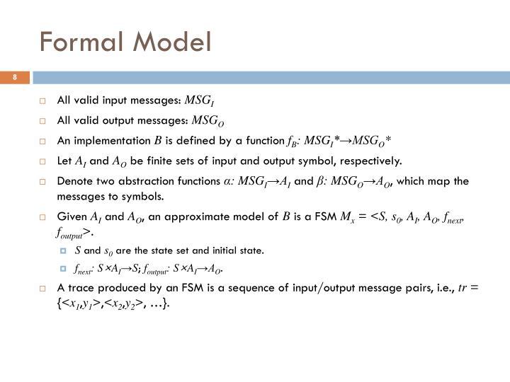 Formal Model