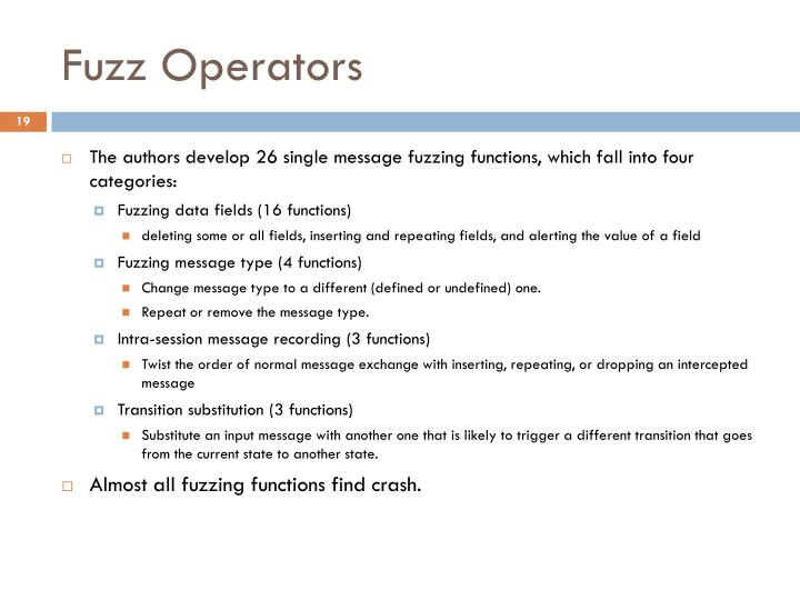 Fuzz Operators