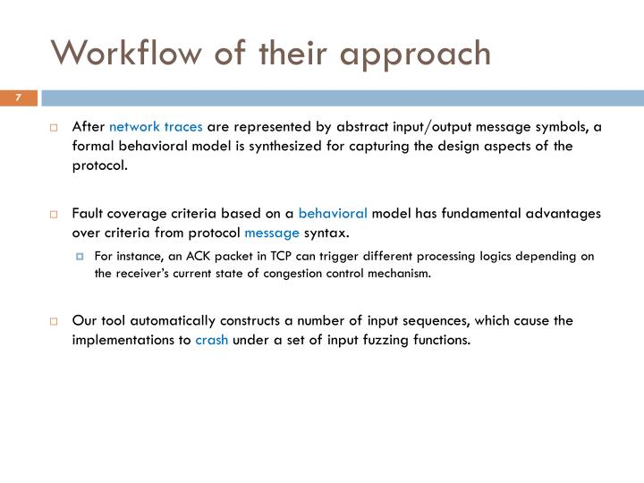 Workflow of their approach