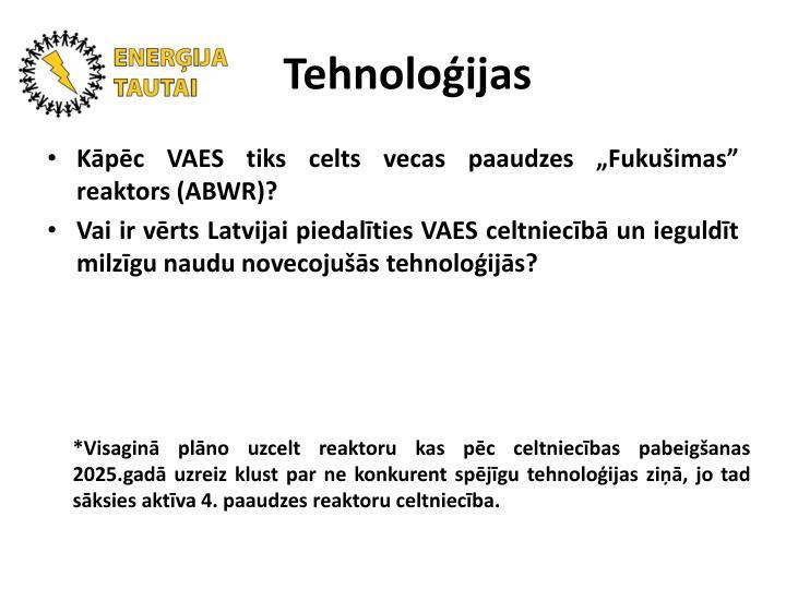 Tehnoloģijas