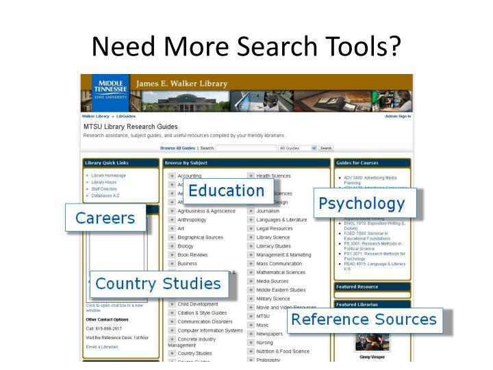 Need More Search Tools?