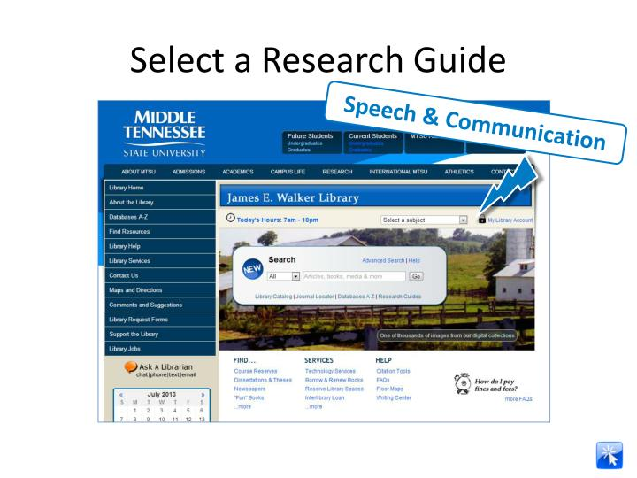 Select a Research Guide