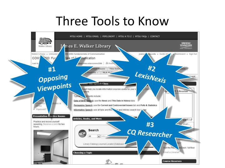 Three Tools to Know