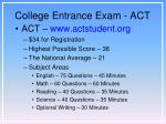 college entrance exam act