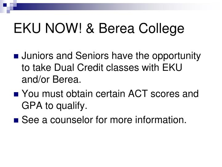 EKU NOW! & Berea College
