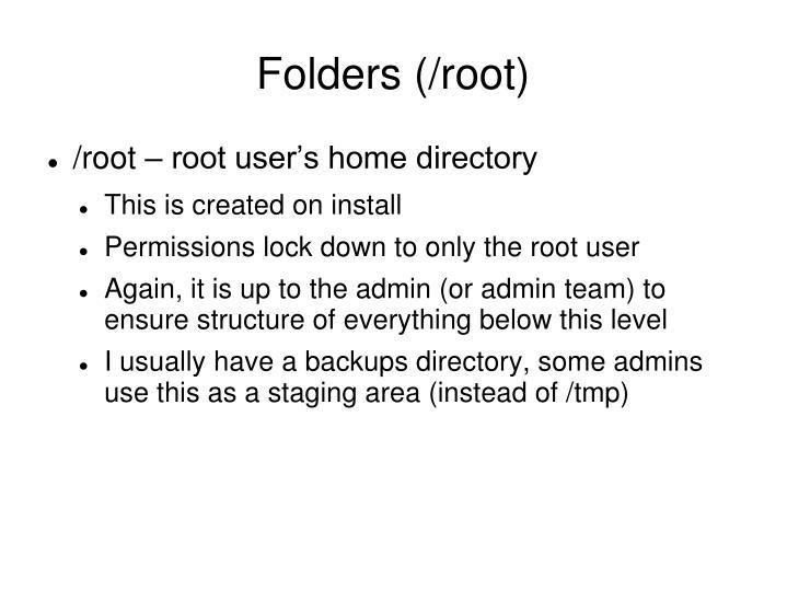 Folders (/root)