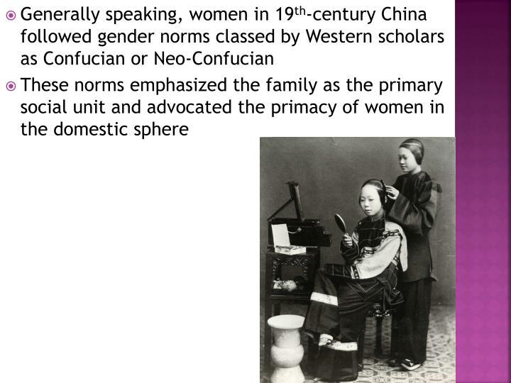 Generally speaking, women in 19