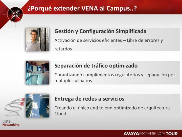¿Porqué extender VENA al Campus..?