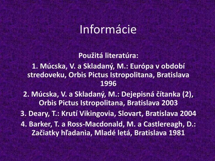 Informácie