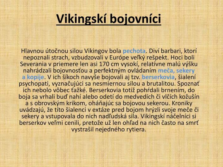 Vikingskí bojovníci