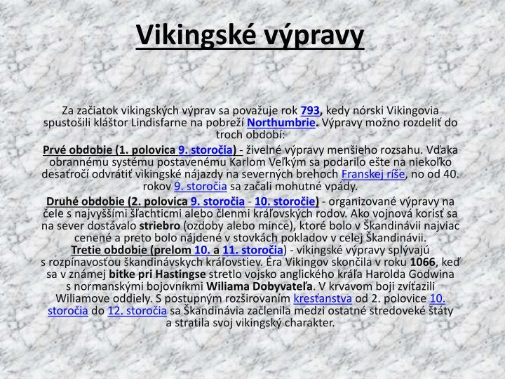 Vikingské výpravy