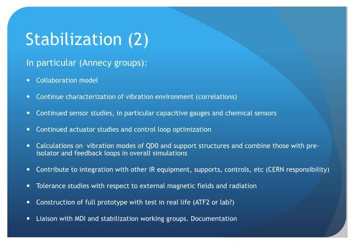 Stabilization (2)