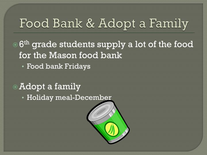 Food Bank & Adopt a Family