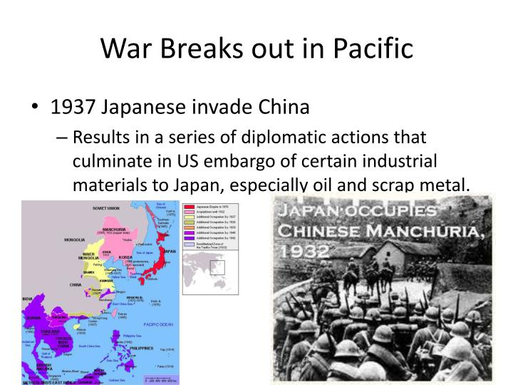 War Breaks out in Pacific