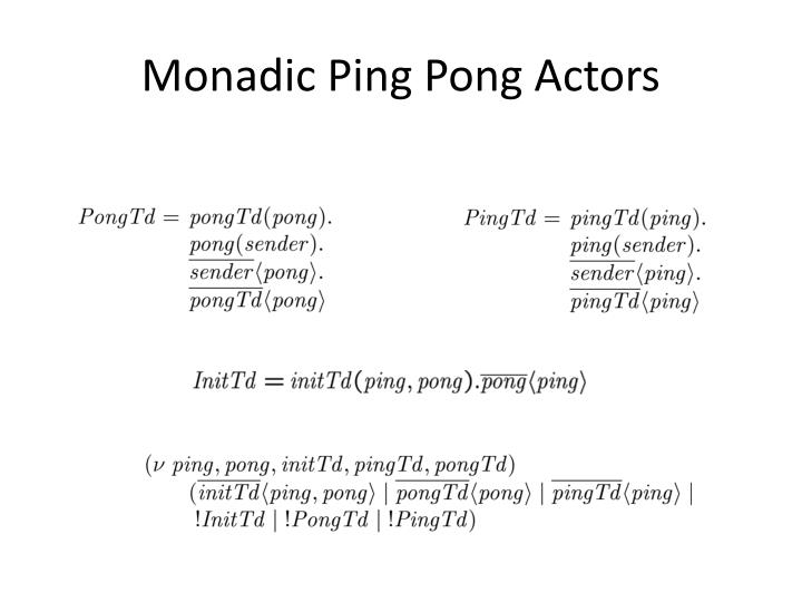 Monadic Ping Pong Actors