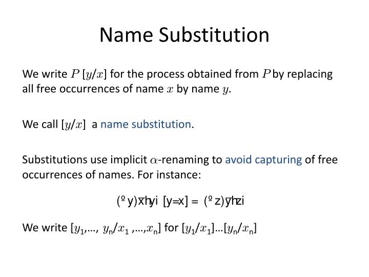 Name Substitution