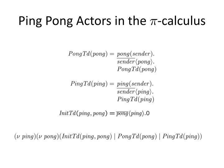 Ping Pong Actors in