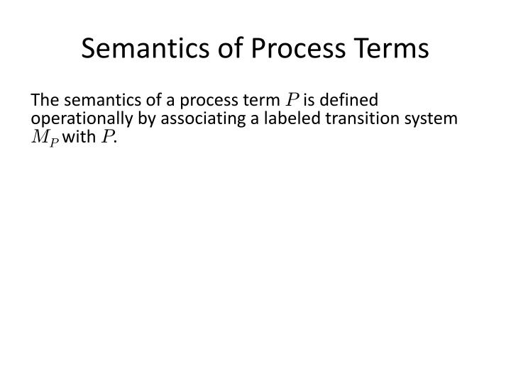 Semantics of Process Terms