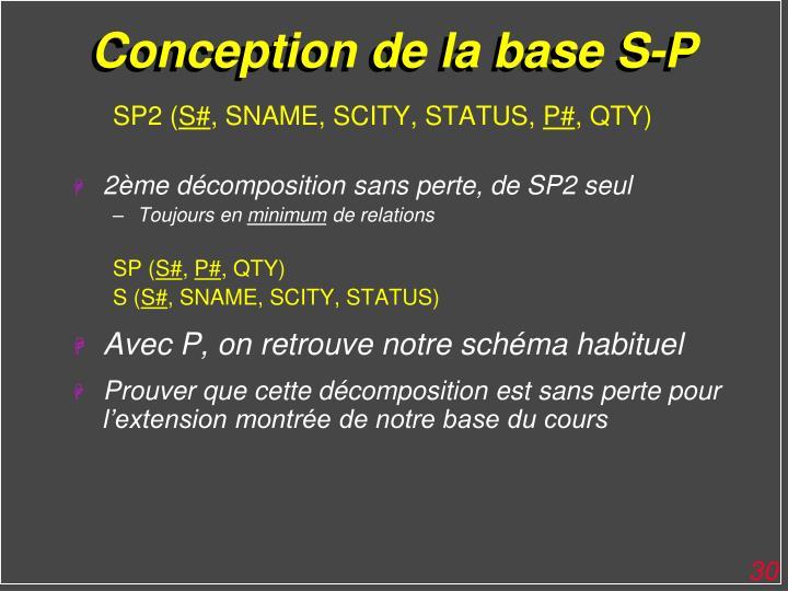 Conception de la base S-P