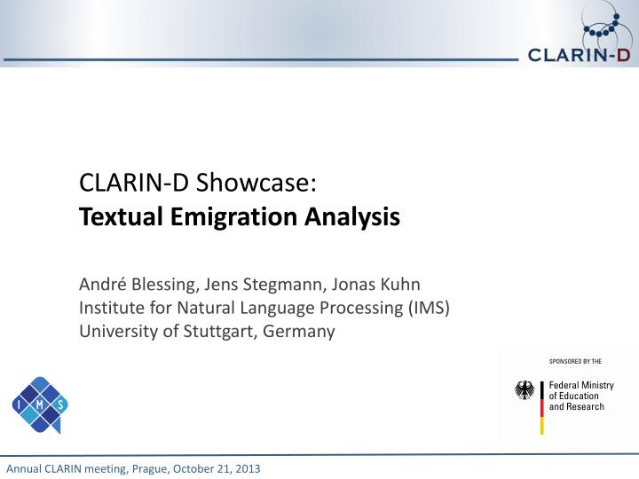 CLARIN-D Showcase: