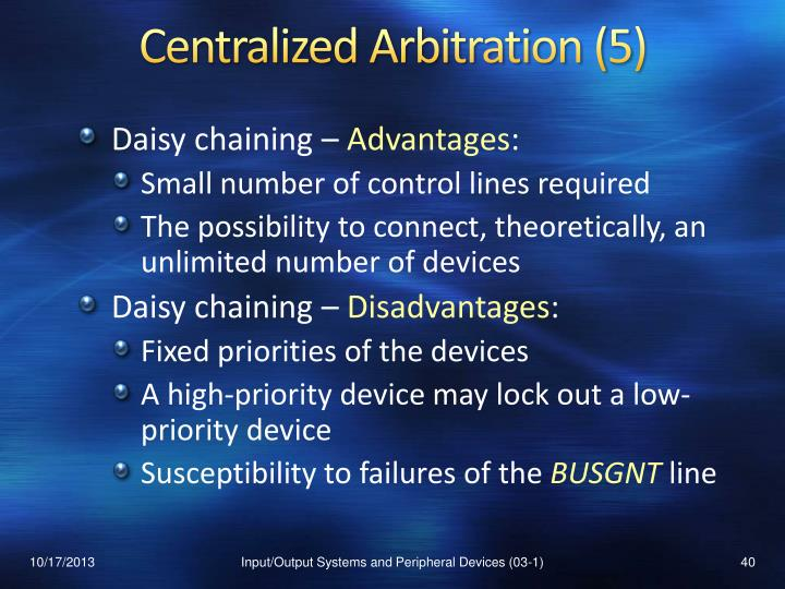 Centralized Arbitration (5)