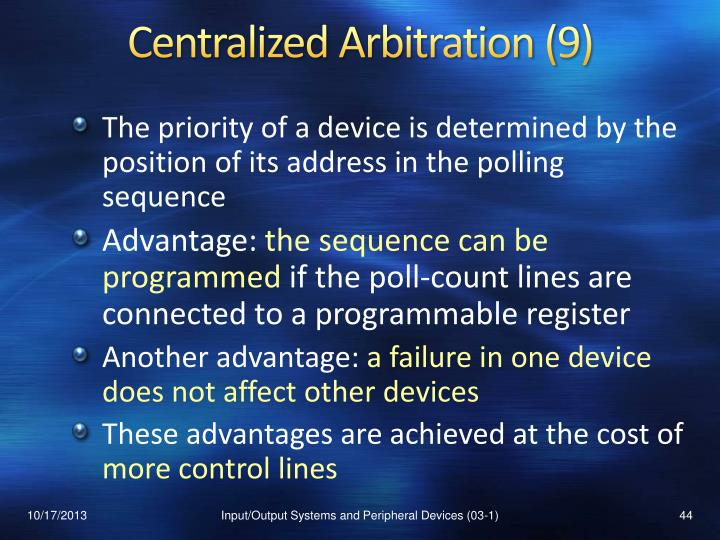 Centralized Arbitration (9)