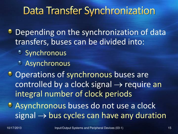 Data Transfer Synchronization