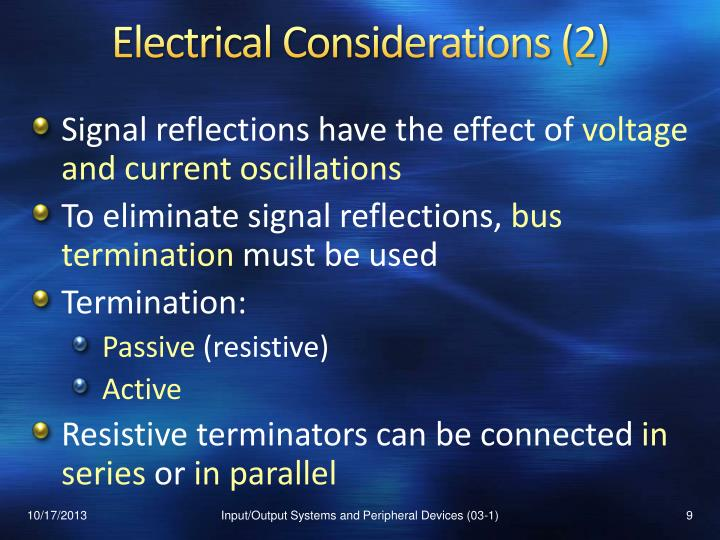 Electrical Considerations (2)