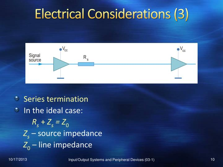 Electrical Considerations (3)