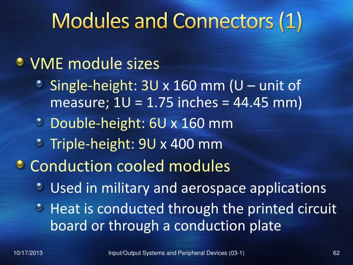 Modules and Connectors (1)