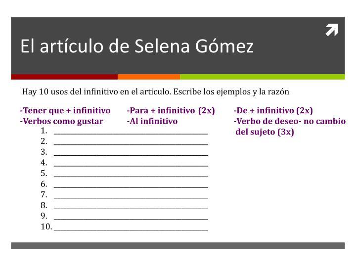El artículo de Selena Gómez
