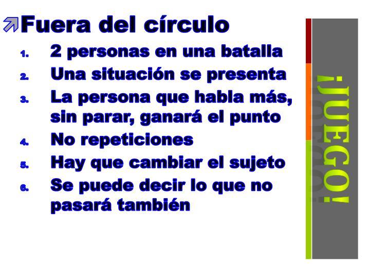 Fuera del círculo