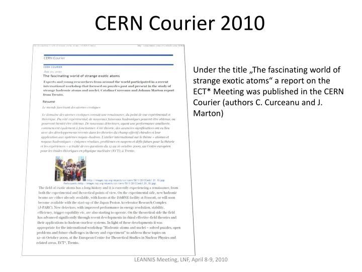 CERN Courier 2010