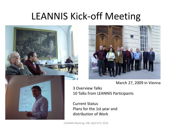 LEANNIS Kick-off Meeting