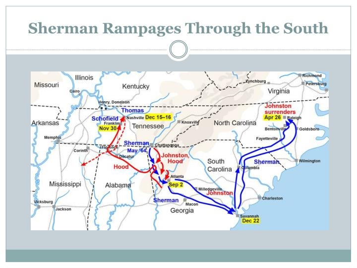 Sherman Rampages Through the South