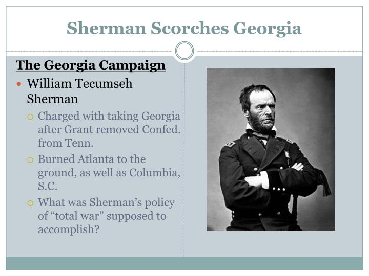 Sherman Scorches Georgia