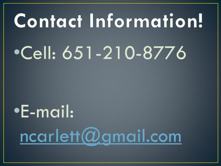 Contact Information!