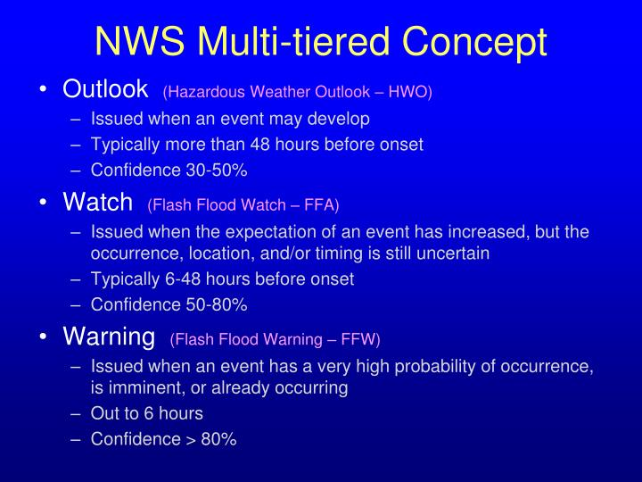 NWS Multi-tiered Concept