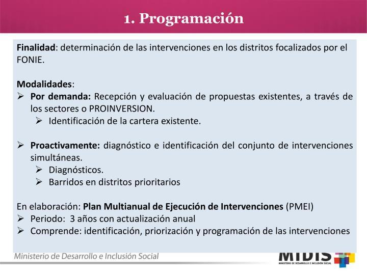 1. Programación