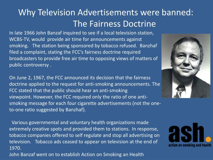 Why Television Advertisements were banned: