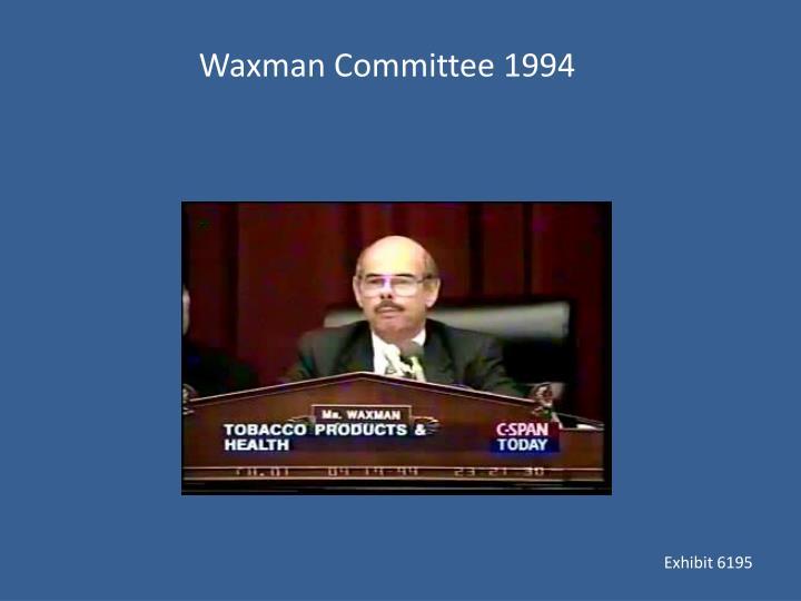 Waxman Committee