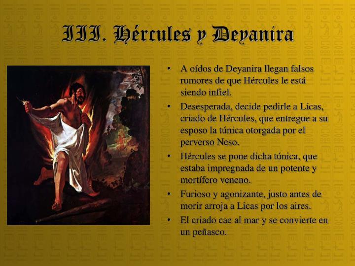 III. Hércules y Deyanira